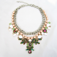 Fashion Brand Crystal Pendants Necklaces Wholesale Designer Women Necklaces & Pendants Jewelry Name Statement Necklace For Women