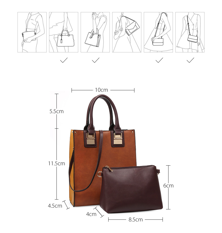 572f0b1a1a4 2pcs set Cow Leather Handbags Women Tote Bags Ladies Shoulder Crossbody  Bags Set bolsa feminina bolsos de mujer set sac a main
