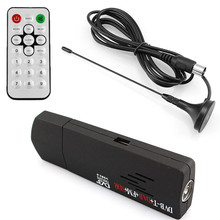 2016 DVB-T + DAB + FM + SDR RTL2832U + R820T Digital USB 2.0 TV Stick Support SDR Tuner Receiver with Remote Controller(China)