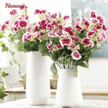 Real Touch petunias 5pcs/lot Artificial Flower decoration bouquets DIY table decoration flower Handicrafts Fake Flowers P15(China)