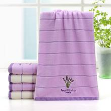 2016 New Arrivals Luxury Lavender Face Towel linge de toilette Super Soft 100% Cotton Towel Brand Home Terry Towel Wash Cloth(China)