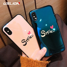 Buy USLION Glossy Letter Smile Phone Case iPhone 7 Plus Love Heart Silicone Cases Soft TPU Back Cover iPhone X 8 7 6 6S Plus for $2.28 in AliExpress store