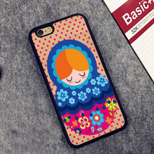 russian matryoshka doll Printed Soft TPU Skin Mobile Phone Cases  For iPhone 6 6S Plus 7 7 Plus 5 5S 5C SE 4 4S Back Cover Shell