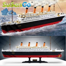Big Size RMS Titanic Ship 3D Model Building Blocks Toy Titanic Boat Educational Gift Toy for Children 0577