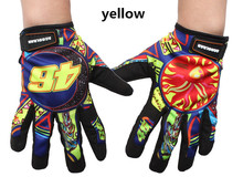 New 2015 Summer Breathable Non-Slip Print Motorcycle Gloves Motocross Motorbike Cycling Racing Gloves luva moto guantes 4 Colors(China)