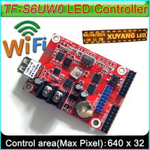 2017 New WIFI+USBcontrol card,TF-S6UW0 P10 LED Module Panel LED sign control card, Suitable for single&double color