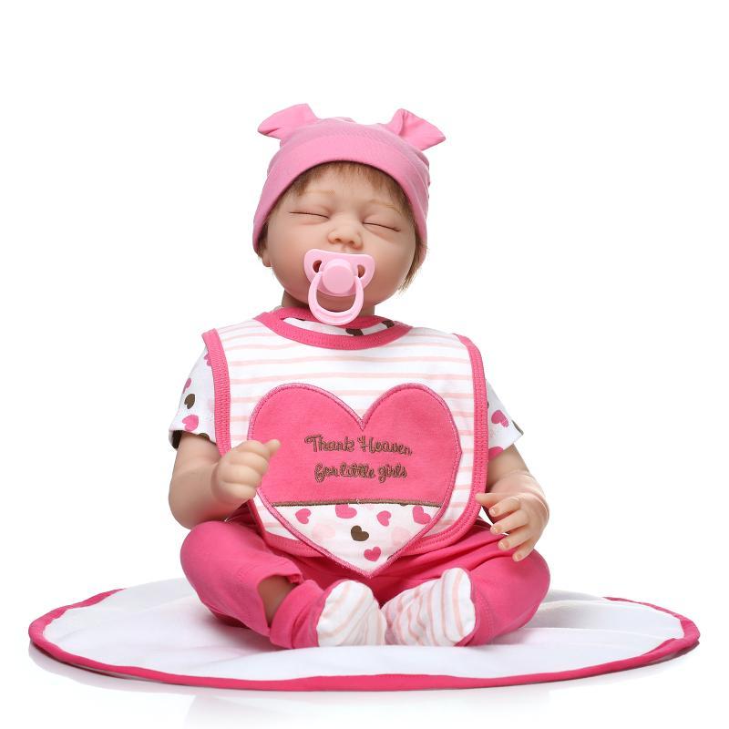 22inch Simulation Baby Dolls 55cm Silicone Reborn Baby Doll Toys Newborn Realistic Lifelike Reborn Babies Kids Gift Brinquedos<br><br>Aliexpress