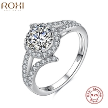 ROXI Brand 2016 New Collection 925-Sterling-Silver Brilliant Weeding Ring Silver & Clear CZ Ring Fashion Jewelry(China)
