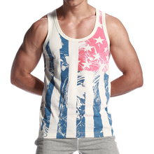 SEOBEAN New Men's summer fashion cotton striped slim tank top(China)