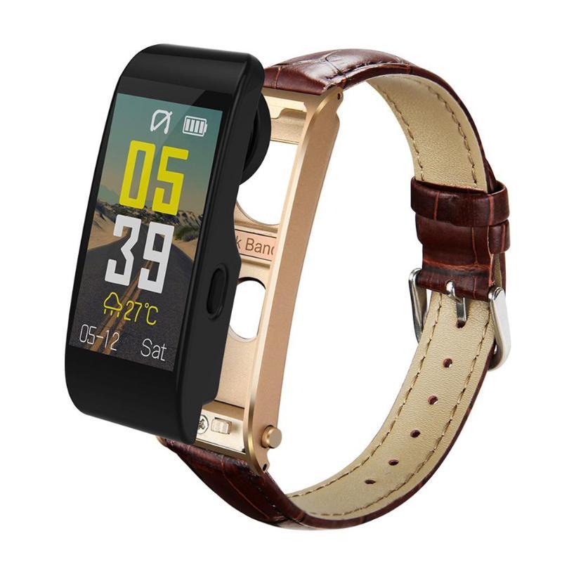 ALLOYSEED Bluetooth Smart Bracelet Watch Handsfree Call Music Player Sport Wristband Headset Fitness Tracker Heart Rate Monitor 15