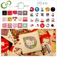 38 pcs/set Creative Cute cartoon Hello kitty Themes Stickers Adhesive Stickers DIY Decoration Stickers WYQ(China)