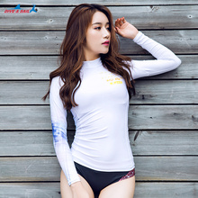 Dive & Skin Women's UPF 50+Long Sleeve Athletic Rashguard Sun UV Protection Shirt Top Girls Swimming Swimwear Wetsuit Basic Suit