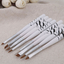 8pcs Nail Art Brushes Set Zebra Patter Nail Art Decorations Gel Painting Pen Nail Sticker Polish Equipment Brush Drawing Tool