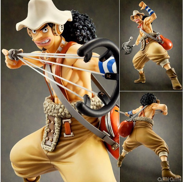 Free shipping High Quality!Japanese Anime One Piece Usopp Sogeking The Sniper 24cm PVC Action Figure Collection Model Toys Gifts<br>