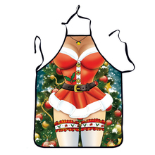 Funny Printed Personality Aprons Christmas Santa Anime Cartoon Sex Lady Cooking Apron Creative Character Series New Year