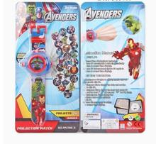 3D Cartoon Doraemon Toys Student Watch The Avengers Ironman Captain America Action Figure Projection Watch 24 Images Kids Toys(China)