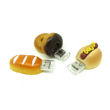 Funny bread/donuts/hot dog usb flash drive disk memory stick Pen drive personalized pendrive mini PC gift 4gb 8gb 16gb 32gb