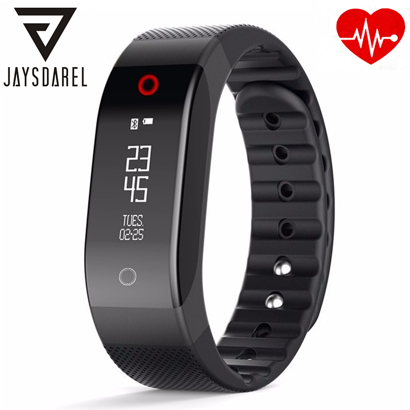 JAYSDAREL Heart Rate Monitor SMA BAND Smart Watch OLED Screen Smart Activity Fitness Tracker Bracelet for Android iOS<br>