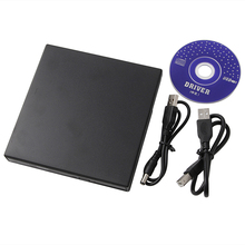 Ultra Slim Portable External Usb 2.0 Optical Driver CD/DVD Player Black New(China)