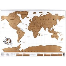 Travel Scratch Off Map Personalized World Map Poster Traveler Vacation Log  Wall Sticker Home Decor