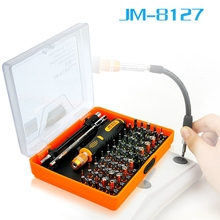 JAKEMY JM-8127 Multipurpose Screwdriver Set 53in1 Interchangeable Precision Screwdriver Portable Electronic Repair Hardware Tool