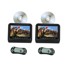 Car DVD Player Headrest Monitor 9 Inch(16:9) Digital LCD Monitor With USB SD Port Game (One Pair With DVD Player) - Black Color