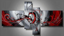 Multi Panel Art Set Oil Hand Painted Knife Palette Art Home Decoration Modern Abstract Wall Art 4pcs/set