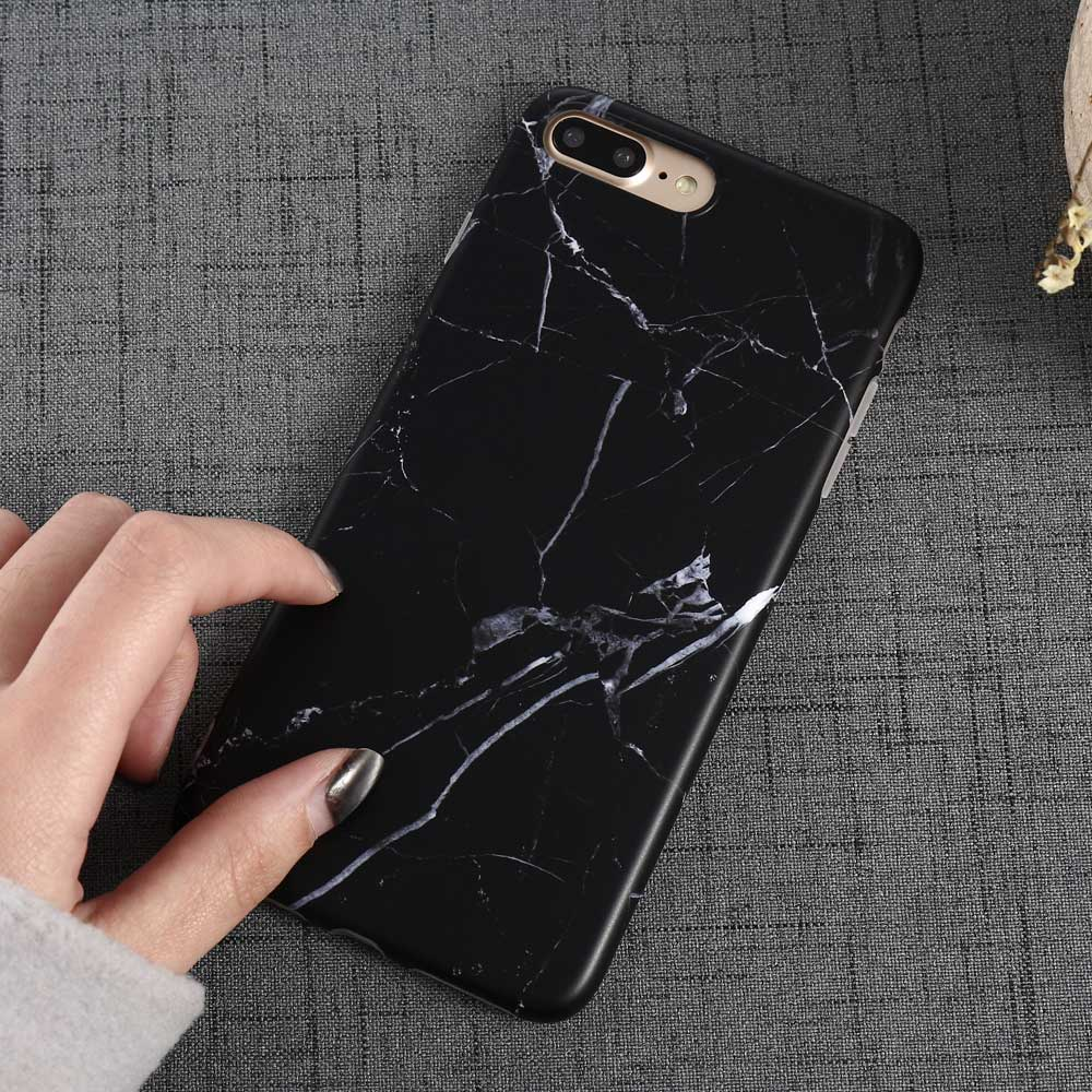 Luxury Marble Pattern i 7 Phone Cover Case For iPhone 7 Plus Soft TPU Back Cover For iPhone7 Plus Black Phone Accessories Coque (15)
