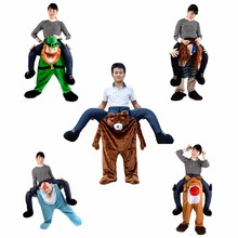Creative toy Ride on Postman baby  club dress up party cosplay plush animal clothes saddle horse mascot cute soft pants