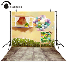 Allenjoy photographic background Balloon painting windows blur backdrops baby boy studio Send rolled 10x10ft