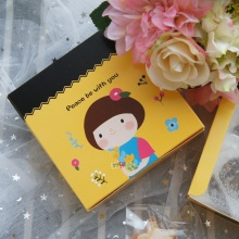 13.5*13.5*5cm 10pcs Flower girl design Paper Box Cheese candy Cookie valentine gift Packaging Wedding Christmas Use
