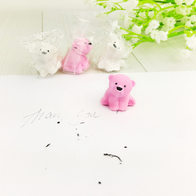 1X cute Cartoon eraser lovely Polar bear modelling eraser children stationery gift prizes kawaii school supplies papelaria(China)