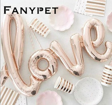 Ligatures big LOVE Letter Foil Balloon Anniversary Wedding Valentines Party Decoration Balloon Red Champagne Cup diamond(China)