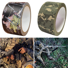 1Roll 5cm*10m Camouflage Army Bionic Tape Stretch Bandage Outdoor Hunting Wargame Telescope Gun Camera Ghillie Suit Cloth