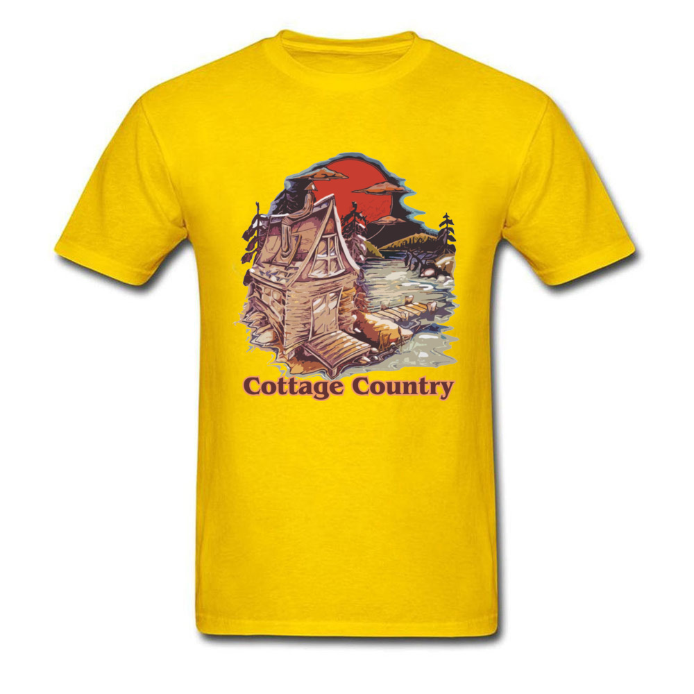 Coage Country Funny Printed On Tees O-Neck ostern Day All Coon Short Sleeve T Shirt for Men Print Tops Tees Coage Country yellow
