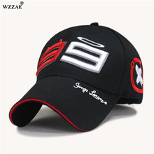 WZZAE Moto Gp 99 Jorge Lorenzo Hats For Men Racing Cap Cotton Brand Motorcycle Racing Baseball Caps Car Sun Snapback Black Hats(China)