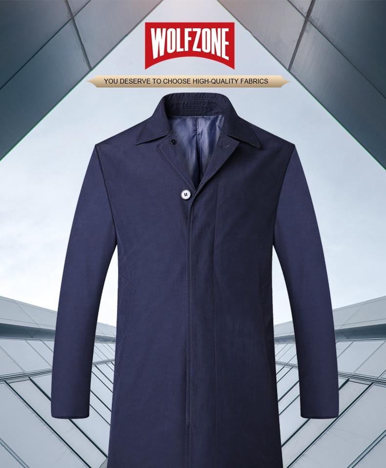 2018 New Spring Mens Casual Trench Coat Khaki blue Longline Thin Windbreaker Coats  (1)