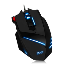 Brand Mouse Gamer For High-End 7 Key USB Wired Optical 1600DPI LED Optical Wired Gaming Mouse For PC Laptop Mouse Gift HOT #205