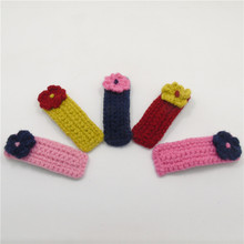 15pcs/lot Felt Crochet Floral Hairpin Knitted Woolen Flower Hair Clips Non-slip Snap Hair Grip Kid Children Kid Girl Barrettes(China)
