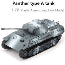 1:72  plastic assembling toys, World War II German classic leopard A-tank model, educational toys, boy gifts, free shipping