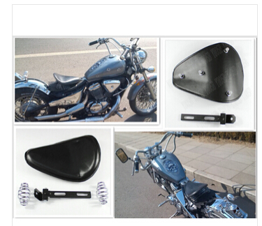 Universal Leather Solo Spring Motorcycle Seat+Mounting For Honda Rebel CMX 250 CA125 250 450 Gold Wing GL1500 GL1800 SHADOW(China (Mainland))