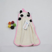 Plus Size White Panda Cute Baby Nursery Hand Towel Toddler Soft Cartoon Animal Towels Hanging Bathing Towel for Children(China)