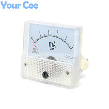 1 pc New 85c1 Current Monitoring 0~5mA Analog DC AMP Panel Meter Class 2.5 Pointer Ampere Gauge