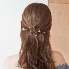Korean Barrette Star Heart Design Metal Pearl Hair Clips For Women Hair Accessories Gold Hairpin Heart Star Hairband Hair holder