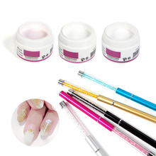 Nail Polymer Builder 1 Set Acrylic Powders & Liquids Pink Clear White Available Plus 1pc Crystal Pen Diamond Colorful Nail Art(China)