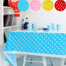 108*180cm=43*70inch plastic tablecloth color dots sweet  Birthday Wedding Party Decoration baby shower gift craft DIY favor Wh