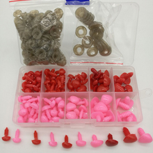130pcs/bag triangle nose (with washers) Diy Triangle doll Toy Safety Noses For Teddy Bear Crafts plastic nose