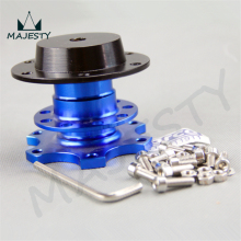Steering Wheel Quick Release Hub Adapter Removable Snap Off Boss Kit BLUE