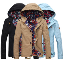 Men's Jacket 2016 New Arrival Men Jacket With Hood Fashion Slim Fit Coat Men Casual Spring & Autumn Jacket Outerwear 3XL