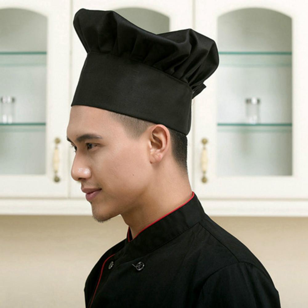 Details about  /Comfortable Cook Cap Adjustable Kitchen Baker Chef Elastic Hat Catering Serving